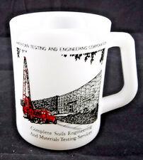 Federal Glass Milk Advertising Mug American Testing And Engineering Corporation