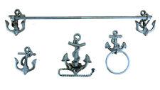 Nautical Anchor Bath accessory Cast Iron set Saltwater Decor surf beach bathroom