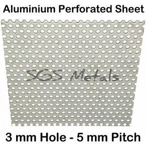 PERFORATED ALUMINIUM SHEET 3mm Hole 15 Popular Sizes Precision Guillotine Cut
