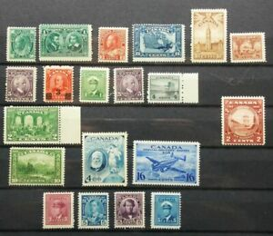 CANADA Nice Selection of early stamps MNH, OG