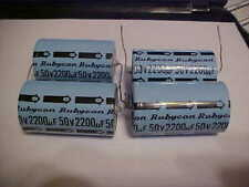"""New Rubycon 2200uF 50v Electrolytic Capacitor 2 5/16"""" Long Set of 4"""