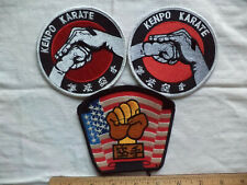 3 - Kenpo Karate Fist Patch for Uniforms Bags Hats Jackets Backpacks Clothing