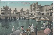 Postcard - Swan Boats Court of Honour Franco-British Exhibition London posted