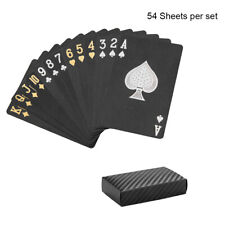 Waterproof Black Playing Cards Collection Plastic Magic Decks Card Table Games