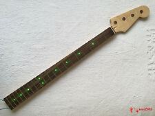 Top Quality Four Strings Bass Guitar 20 Fret Electric Guitar Neck Green Light