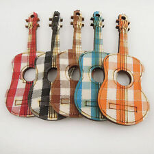 Mixed 40PCS Colorfun Wooden Guitar Cute Pendant Jewelry Hot Sale Charm 37681