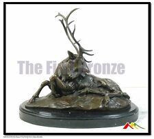 Bronze Statue Elk Stag Buck Deer sculpture,  signed Milo