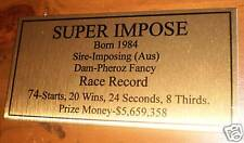 Super Impose Gold Plaque **Free Postage