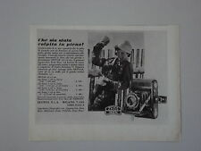 advertising Pubblicità 1939 ZEISS IKON NETTAR