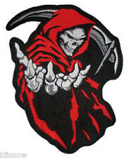 "GRIM REAPER (RED) BACK PATCH 26CM x 35CM (10 1/4"" x 13 3/4"") Sew on"