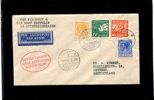 Zeppelin Sieger96 1930 Mannheim Germany Flight Netherlands Treaty dispatch