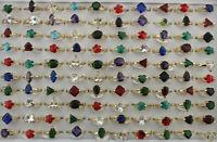 45pcs De gros Variété Bijoux Zirconia cubique anneaux Dame Plaqué or Bagues