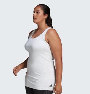 NWT$40 Adidas X UNIVERSAL Women's Plus STANDARD LONG Tank Top FJ7458 Size 3X