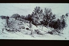 JAMES SMILLIE- A FALLOW FIELD (MONTROSE SUSQUEHANNA 1883 ETCHING 35MM ART SLIDE