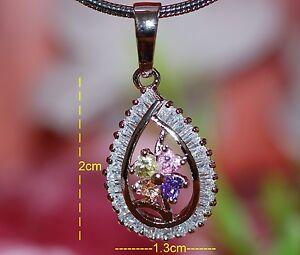 Mix sapphire amethyst peridot pear shape pendant