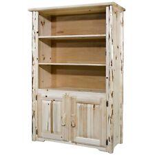 Rustic Log Bookcase Amish Made Furniture Solid Pine Book Shelf Lodge Cabin