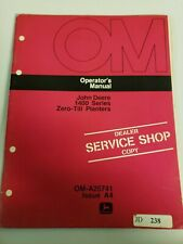 John Deere 1440 1460 Zero Till Planter Operators Owners Manual