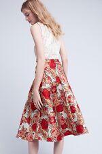 Red Rose Skirt Rachel Antonoff Size 12 $225 NWT