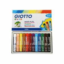 Giotto Olio Maxi Pastelli ad Olio Colori Assortiti Set di 12 - Multicolore (293000)