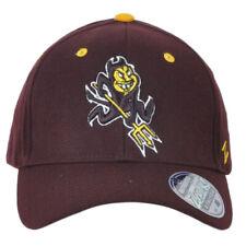 NCAA Zephyr Arizona Sun Devils Burgundy Fitted Stretch X-Large Men Adult Hat Cap