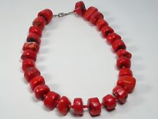 Incredible Vintage 294 Gram Extra Large Ox Blood Red Coral Beaded Necklace
