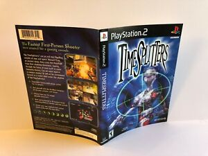 Time Splitters PS2 ARTWORK INSERT ONLY Authentic