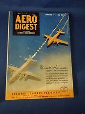 Vintage January 1947 Aero Digest Magazine Reversible Hydromatics Air Brakes