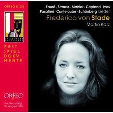 Frederica Von Stade - Liederabend Salzburg Festial 1986 [New CD]
