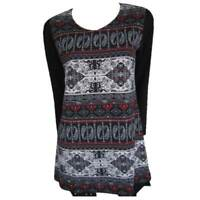 Tunic Tops Plus Size 10 12 14 16 18 20 EVERSUN Red Black Dress Paisley Floral