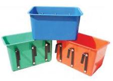 Horse Feed rectangular Bin Bucket -Heavy Duty Plastic - w/  3 attached brackets