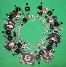 """Z NATION""-ONE OF A KIND ALTERED ART CHARM BRACELET-ZOMBIES"