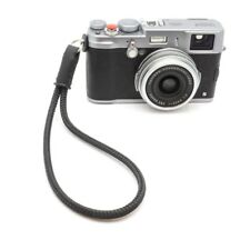 """Cordy Slim"" Silky Cord / Rope Leather Camera Wrist Strap Handmade by Cordweaver"