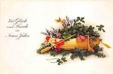 BG8709 mistletoe clover fir branch   neujahr new year greetings germany