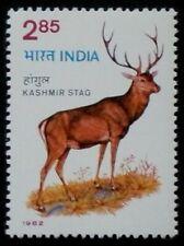INDIA 1982 WILDLIFE RED DEER SET MNH