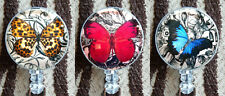 Retractable Badge Reel ID Lanyard Name Card Holder Butterfly Orange Red Blue