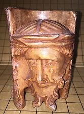 Vintage JESUS, Hand Carved From OLIVE WOOD, Very Detailed, From The HOLY LAND.
