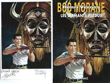 EO BERNARD CORNIL + BOB MORANE HC N° 58 + EX LIBRIS SIGNÉ LES DIAMANTS PERDUS