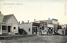 Onslow IA Stick-Style Main St Home~Wooden Sidewalk~Most Buildings Now Gone 1907