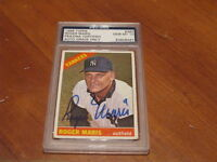 1966 Roger Maris Autographed card PSA 10