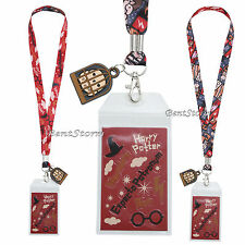Harry Potter Chibi Art ID Card Holder Neckstrap Lanyard W/ Hedwig Owl Cage Charm