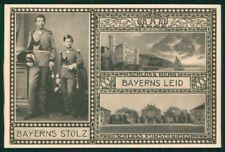 Reali Royalty Konig Ludwig II di Wittelsbach Bayerns Leid Stolz cartolina TC6196
