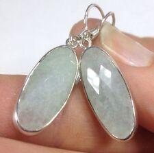 Drop/Dangle Oval Treated Fine Gemstone Earrings