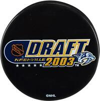 2003 NHL Draft Unsigned Draft Logo Hockey Puck - Fanatics