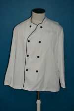 Used Canadian white chef jacket shirt size large ( ref#1563bte156)