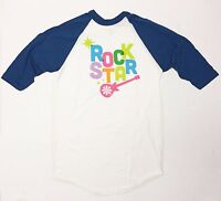 Rock Star - Girls Youth Large White T-Shirt Graphic Tee