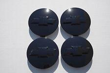 """2007-2013 Chevrolet 3.25"""" Black Center Caps For 18 20 22"""" Wheels 9596403 set 4"""