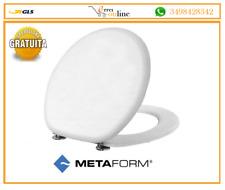 Coprivaso copriwater universale sedile tavoletta wc legno in pvc bianco METAFORM