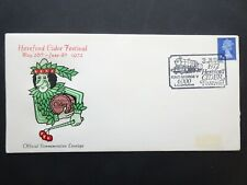 RWC119 GB Hereford Cider Festival and Railway first day stamp cover June 1972