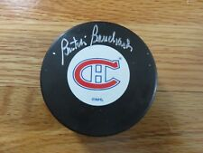 "HOFer EMILE ""BUTCH"" BOUCHARD signed MONTREAL CANADIENS Puck COA"