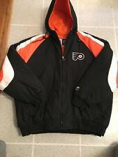 Vintage Logo Seven Philadelphia Flyers Zip Up Winter Jacket Size 2Xl